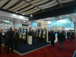 Exhibition Stand of Merkur Gaming at the IGE in London 2010.