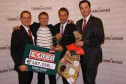 Casino Velden Pokermanager Gerald Golker, Winner Peter Mühlbek, Dietmar Printschler, Casinos Austria Pokermanager Edgar Stuchly