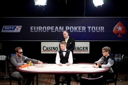 Heads-Up at EPT Copenhagen Michael Tureniec (on left) and Per Linde