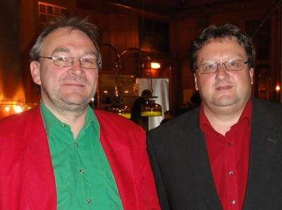 Alfred Neu (2) und Dieter Christmann (1). Die Farbgebung sieht nach Absicht aus.