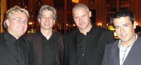 Michael Hüttl (3), Jochen Lehmann (5), Bernd Groebel (2) und der Sechstplatzierte