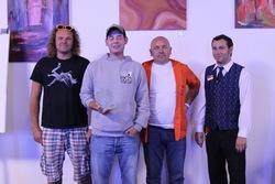 Die besten Einzelspieler beim Team Cup: Sebastian Keller (2.v.l., Platz 1), Torsten Guba (links) und Dietmar Liebert (Platz 3). (Foto: Casino Erfurt)