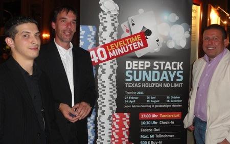 """Links der Zweitplatzierte (""""NN""""), daneben Horst Luderer (1) und Herbert Seitz (3)"""
