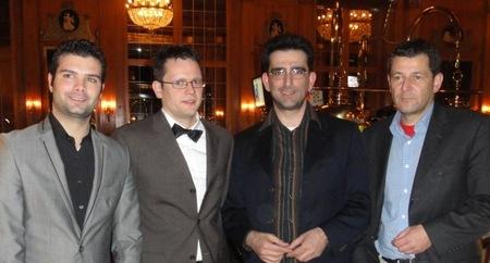 V.l.n.r.: Giovanni Sanna (2), Ralf Bausch (3), Dr. G. (4) und Sieger Holger Marx