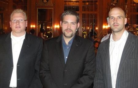 Der Drittplatzierte mit Stefan Weiher (1) und Fabian Bertram (2)