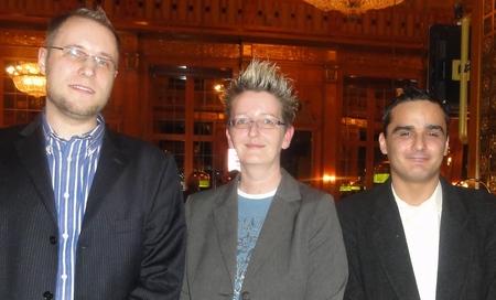 Tobias B. (2), Sabine Weilemann (1)  und ein Freund von Tobias B