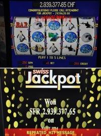 Swiss Jackpot mit fünf Kristallen gewonnen