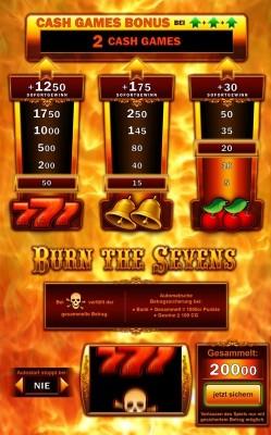 Burn the Sevens - das Erfolgsspiel mit nur einer Walze.