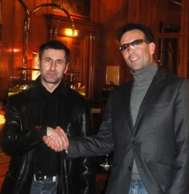 Klaus Perwein (Platz 2) und Ivan Hernandez (Platz 1)