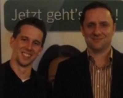 Jens Kaiser (1) und Alexander Krause (2)