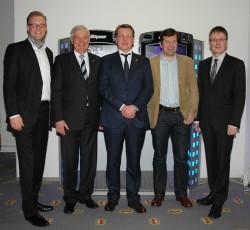Arne Schmidt, Wolfram Seiffert, Sascha Blodau, Tim Wittenbecher, Lars Rogge. Robert Hess fehlt aufgrund von Krankheit.