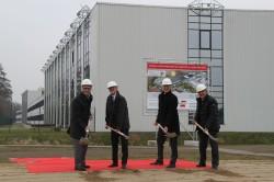 V.l.n.r.: Armin Gauselmann, Dr. Günther Horzetzky, Eckhard Witte, Paul Gauselmann.