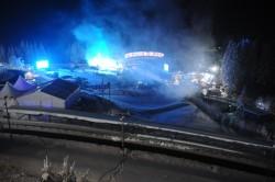 Die Bahn im thüringischen Oberhof ist eine der gefährlichsten Rennstrecken. Rund 5.500 Zuschauer verfolgten das Mega-Spektakel.