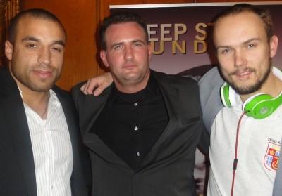 Drei harte Kerle: Johnny Rogers (4) mit dem Sieger und Schnappi (2).