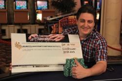Markus Erlacher aus dem Kanton Aargau: Einer der zwei Gewinner des Oster Pokerturniers.