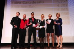 European Dealer Championship - Finalists 2013: Luiza Caradeanu, Casino Bucharest (Winner, 3rd from right), Jannick Hjorc Nielsen (far left)