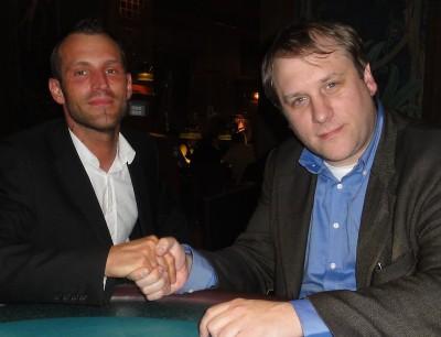 Gegen Christian Stangl, dem Sieger des 75+5 Turniers, sieht Runner-Up Danny Delay ausnahmsweise mal blass aus.