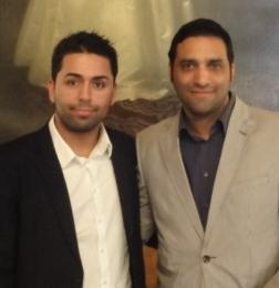 Der Sieger Mustafa Omarzada und der Zweite Anwar Mahmud