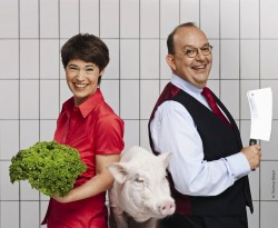 Eva Gritzmann und Dennis Scheck
