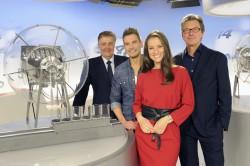 Die beiden neuen Moderatoren mit den Geschäftsführern der Saarland-Sporttoto GmbH und derzeitigen Federführern des DLTB Michael Burkert (l.) und Peter Jacoby. (Foto: Becker & Bredel)
