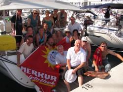 Die Segler der BSG Merkur Gauselmann machten zum zehnjährigen Bestehen der Segelsparte einen Törn in Kroatien.