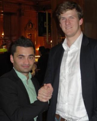 Der Sieger Wolfgang Streb mit dem Runner-Up Fred. Reusch. Der könnte ihm ja beim Umzug helfen, zumindest bei den hohen Sachen.