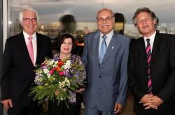 Karl Besse, Francoise Bunke, Harro Bunke und Andy Meindl (v.l.n.r.)