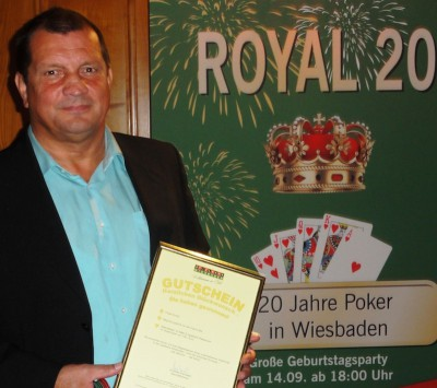Vierter im Turnier und Zweiter in der Monats-Wertung: Wolfgang Werft