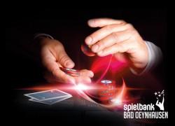 Neues Pokervergnügen in der Spielbank Bad Oeynhausen. Ab 1. September wird beim Ultimate Texas Hold´em gegen die Bank gepokert. (Foto: WestSpiel)
