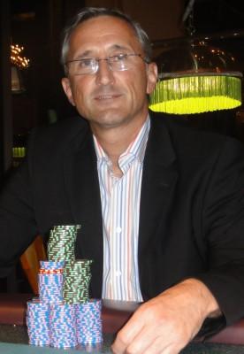 Der entspannte Sieger Frank Fingerle.