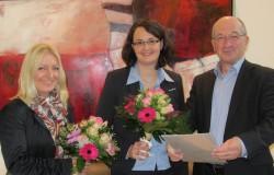 Geschäftsführer Robert Hess gratulierte Gudrun Klerner (links) und Petra Schulze Ising (Mitte).