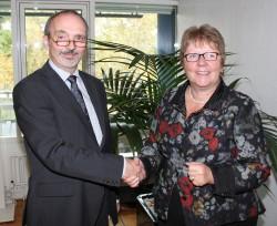 Lotto-Chefin Marion Caspers-Merk und Christian Heise