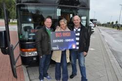 Spielbank-Team: (v.l.n.r.) Reinhard Wehner, Denise Rech und Manfred Ross von der Spielbank Hohensyburg begleiteten die Sieger nach Hamburg.Fotos: WestSpiel