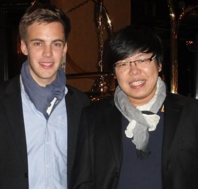 Jay (rechts) mit seinem besten Freund (links).