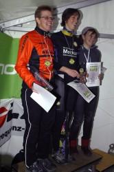 """Die drei schnellsten Frauen des """"Pipelineking"""" (v.l.): Martina Möller (Platz 3, Radz Fatz Espelkamp), Erstplatzierte Franziska Niederleitner (BSG Merkur Gauselmann) und Nadja Wohllaib (2. Platz, ATS Nahmer)."""