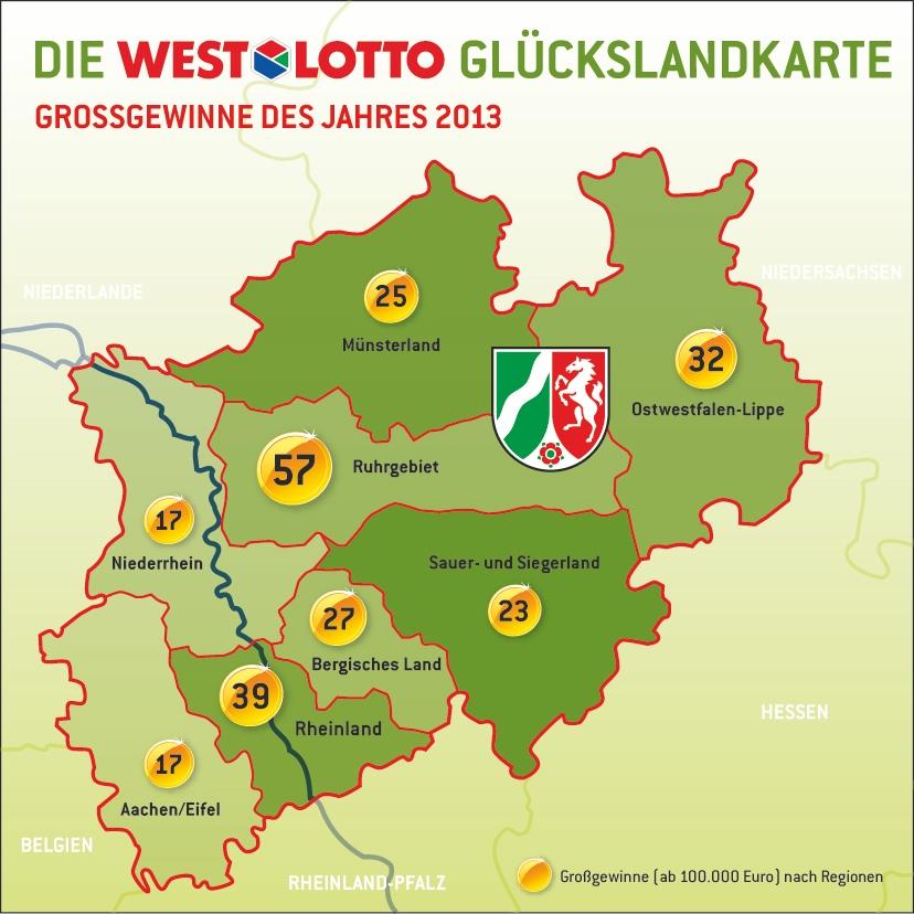 Westlotto Karte.Lotto Informiert Die Westlotto Jahresbilanz 2013 Rund Jeder 10