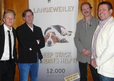 Jan Balzer (7), Daniel Krämer (4), Stefan Sieckenius (6) und Herbert Seitz (5)