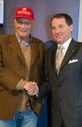 Niki Lauda und Novomatic-Generaldirektor Dr. Franz Wohlfahrt