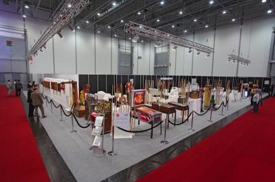 32 internationale Exponate aus den USA, Japan, Großbritannien, Frankreich und Deutschland umrahmten während der IMA die VIP-Lounge des Messeveranstalters Reed.