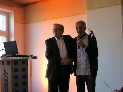 Bally Wulff Hauptgesellschafter Ulrich Schmidt und Betriebsratsvorsitzender Joachim Weber