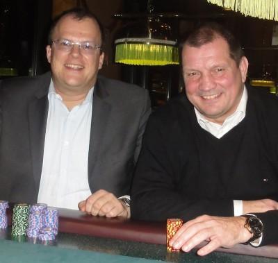 Hauke Harms (1) und Wolfgang Werft (2)