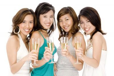 Chinesische Gäste zu Gast im Casino.