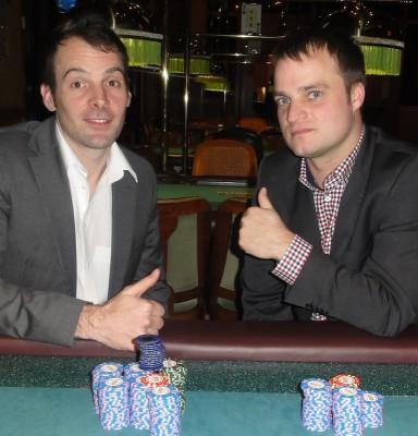 Die Turniersieger Christopher Groos (1) und Andreas Schweinsberg (2)