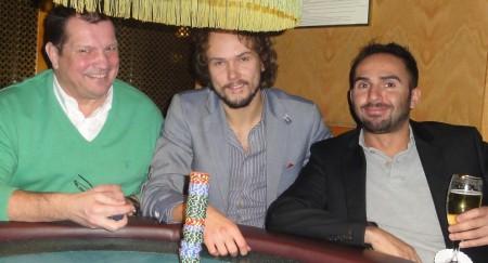 Die drei zufriedenen Sieger nach getaner Arbeit: Wolfgang Werft (1), Schnappi (3) und Bayram Zeren (2)