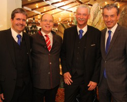 Guests & Organisation Manager Robert Frießer, Fürst Albert, Gaming Manager Horst Trefalt und Casinodirektor Ernst Hubmann.Casino Seefeld