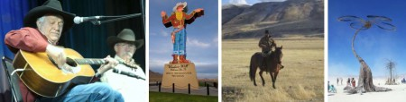 Cowboy Poetry Gathering, featured Ramblin' Jack Elliott / Wendover Will / Cowboy in Elko / Burning Man Art (Foto: ©Nevada Commission on Tourism)