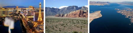 Famous Las Vegas Strip / Red Rock Canyon / Lake Mead (Foto: ©Nevada Commission on Tourism, ©Las Vegas News Bureau)