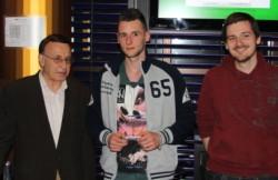 Die drei Sieger Hossein Khalili, Andreas R. und Dominik K.