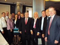 Deutsche Delegation mit den Vorstandsmitgliedern und der Geschäftsführung des BA sowie den Vertretern von VDAI und DAGV.