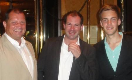 Die drei Turniergewinner: Wolfgang Werft (3) – Julian Märgner (1) – Tim Heun (2)
